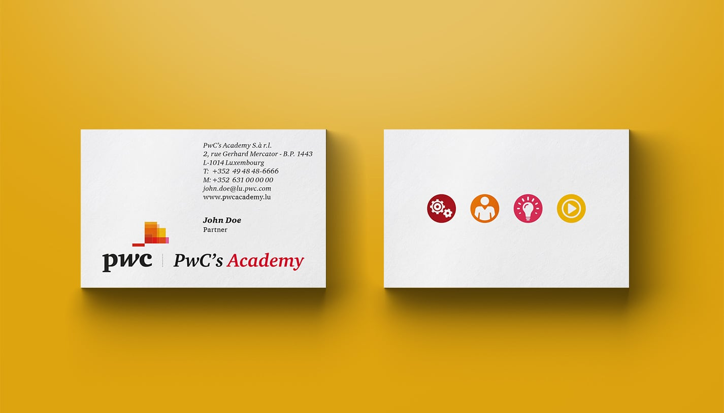 cartes de visite PwC's Academy