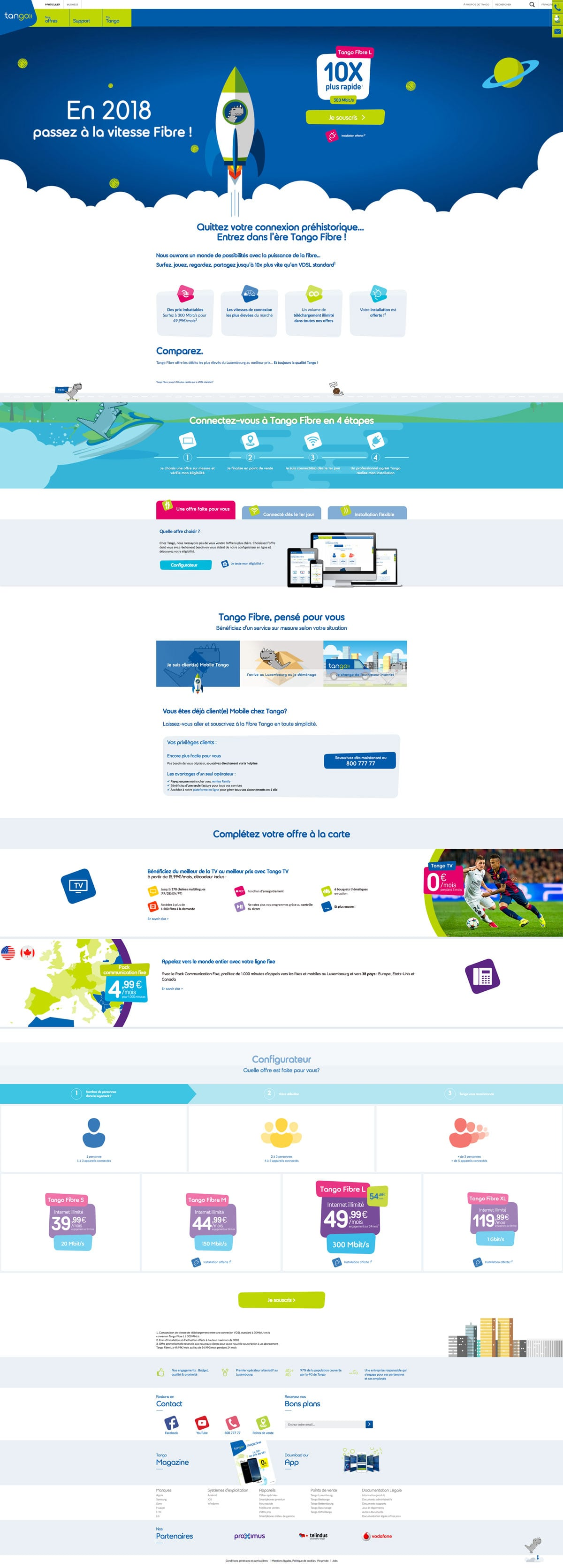 site web tango fibre